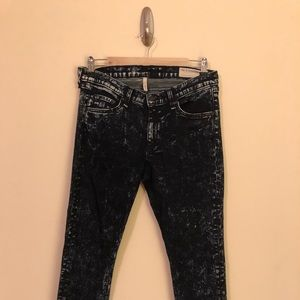 Rag & Bone Acid Washed Skinny Jeans